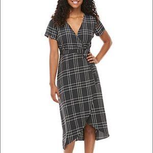 Madison high-low wrap dress